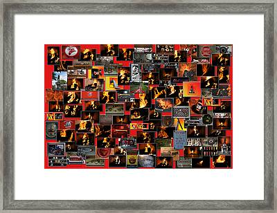 Firemen Series Collage Framed Print by Thomas Woolworth
