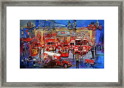 Firemen's Convention Framed Print