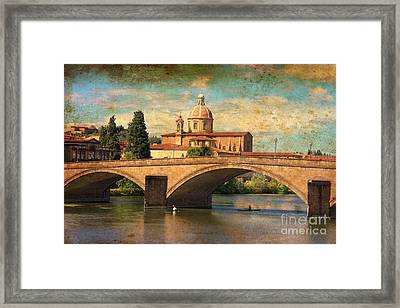 Ponte Alla Carraia Framed Print by Nicola Fiscarelli