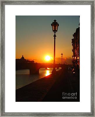 Firenze-14 Framed Print by Theresa Ramos-DuVon