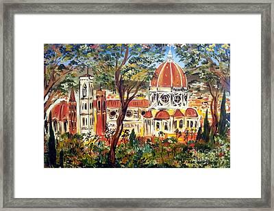 Firenze La Bella Framed Print by Roberto Gagliardi