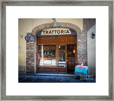 Firenze Trattoria Framed Print by Inge Johnsson