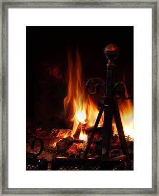 Fireplace Framed Print by Alessandro Della Pietra