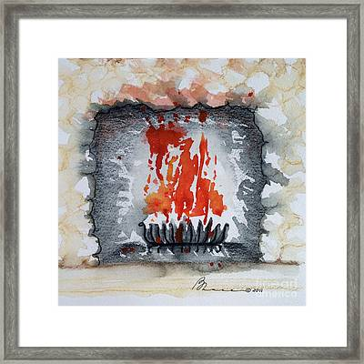 Hearth Framed Print by Barbara Chase