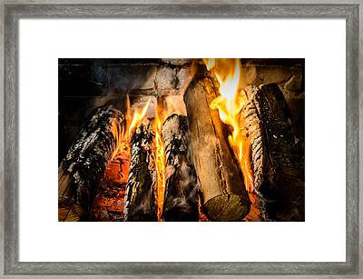 Fireplace II Framed Print by Marco Oliveira