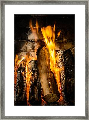 Fireplace Framed Print by Marco Oliveira