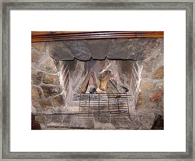 Fireplace Framed Print