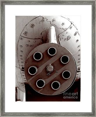 Firepower Framed Print by Olivier Le Queinec