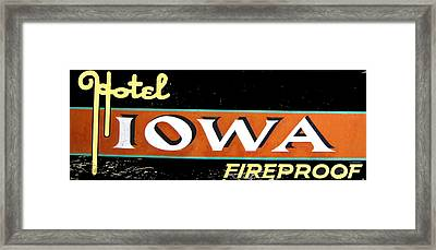 Fireproof- Hotel Iowa Framed Print