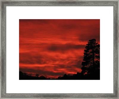 Firery Sky Framed Print by Debra Madonna