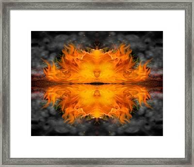 Fires Of The Beginning Framed Print