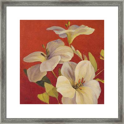 Fireside Flowers I Framed Print