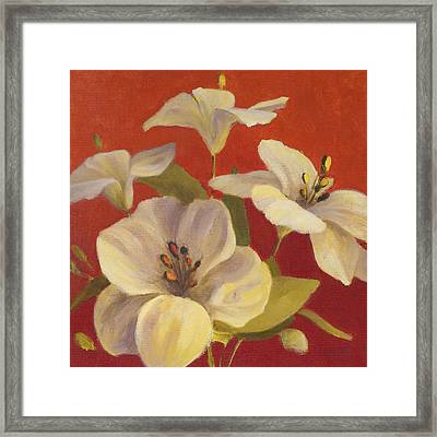 Fireside Flowers II Framed Print