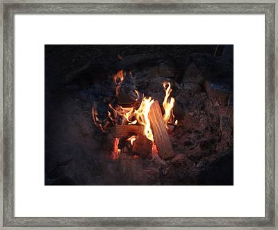 Framed Print featuring the photograph Fireside Seat by Michael Porchik