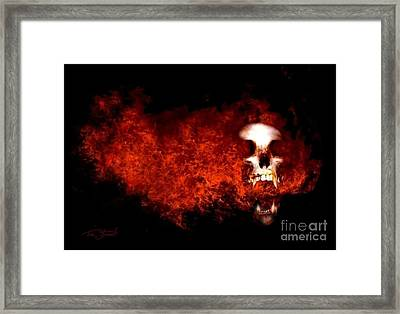 Fireskull 2 Framed Print by Tom Straub