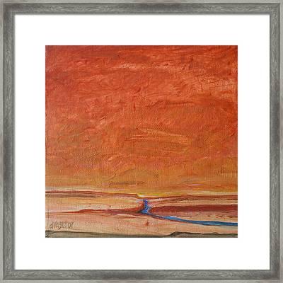 Fire Sky Framed Print by Dawn Vagts