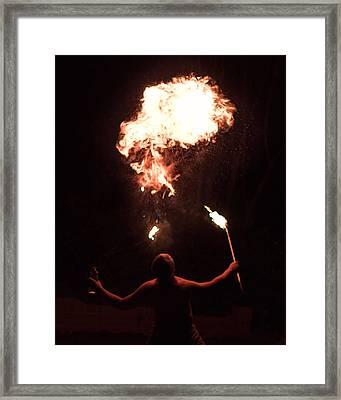 Firespitter Framed Print