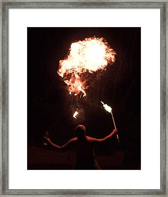 Firespitter Framed Print by Rick Starbuck