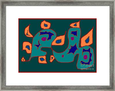 Firest Framed Print by Meenal C