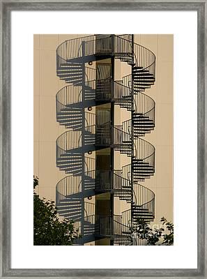 Firestairs Framed Print