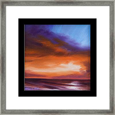 Firesun Sky Framed Print by James Christopher Hill