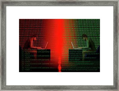 Firewall  Framed Print by Carol & Mike Werner