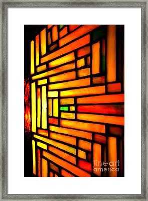 Firewall Framed Print by Newel Hunter