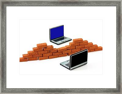 Firewall Protection For Laptops Framed Print