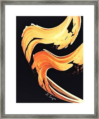 Firewater 5 - Abstract Art By Sharon Cummings Framed Print by Sharon Cummings