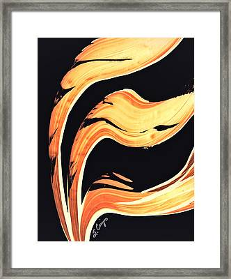 Firewater 6 - Warm Modern Art By Sharon Cummings Framed Print by Sharon Cummings
