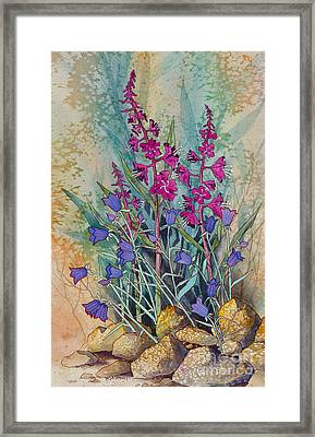 Fireweed And Bluebells Framed Print