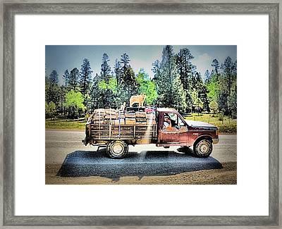 Firewood Gathering Framed Print