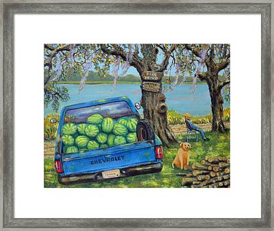 Firewood In July Framed Print