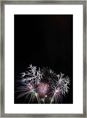 Firework Display At Night Sky Framed Print by Panoramic Images