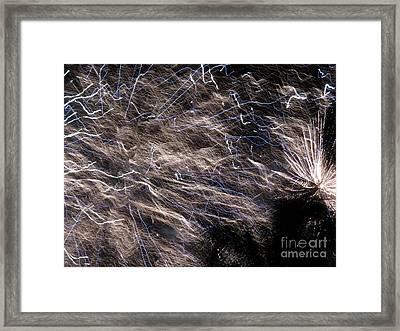 Firework - Feu D'artifice - Ile De La Reunion - Reunion Island - Indian Ocean Framed Print by Francoise Leandre