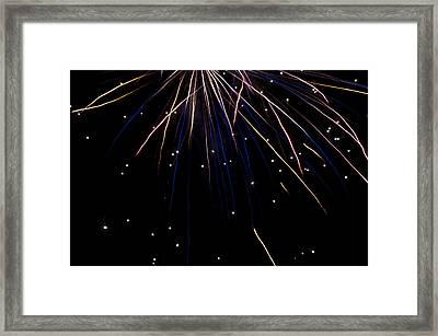 Framed Print featuring the photograph Firework Rain by David Isaacson