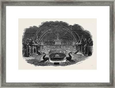 Firework Temple At Vauxhall Framed Print