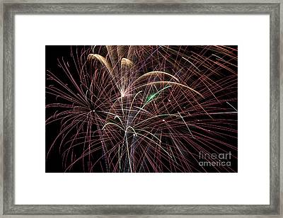 Firework Trails Framed Print by Jason Meyer