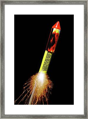 Firework Framed Print by Victor De Schwanberg