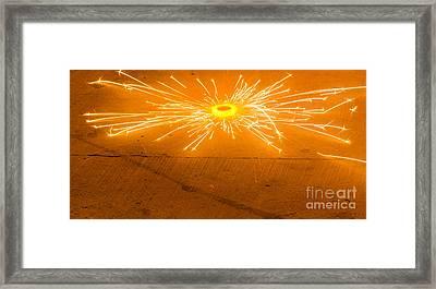 Firework Wheel Framed Print by Image World