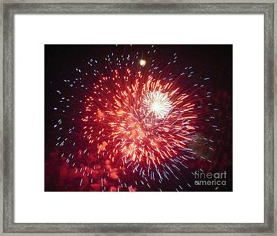Fireworks 1 Framed Print by Leslie Cruz