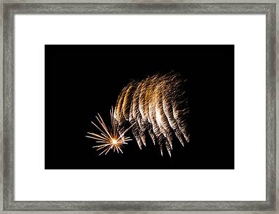 Framed Print featuring the photograph Fireworks 1 by Susan  McMenamin