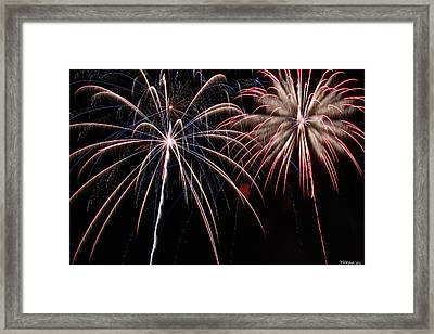 Fireworks 2 Framed Print by Andrew Nourse