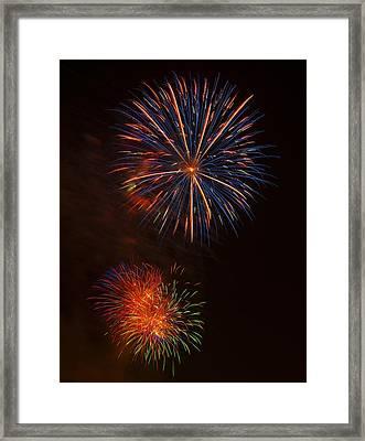 Fireworks 2 Framed Print by Chris Flees