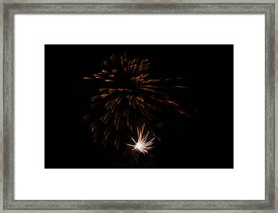 Framed Print featuring the photograph Fireworks 2 by Susan  McMenamin