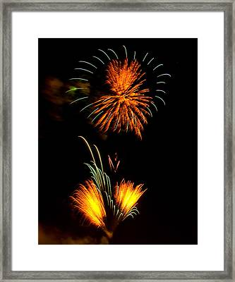 Fireworks 3 Framed Print by Chris Flees
