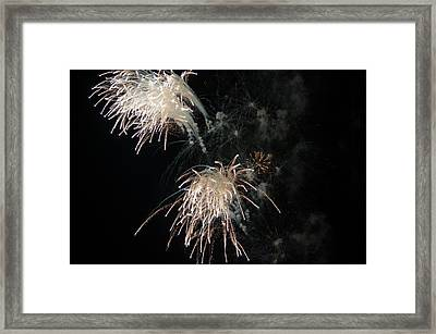 Framed Print featuring the photograph Fireworks 3 by Susan  McMenamin