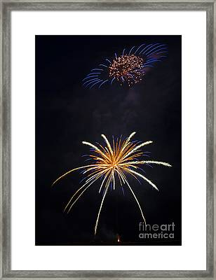 Fireworks 3 The Spaceship Framed Print by Dianne Phelps