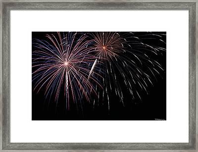 Fireworks 4 Framed Print by Andrew Nourse
