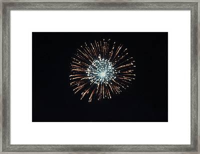 Fireworks 4 Framed Print by Christine Hafeman